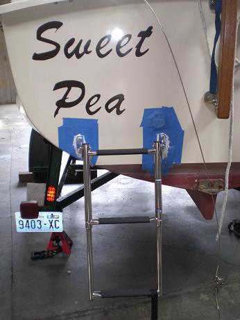 bedded transom ladder