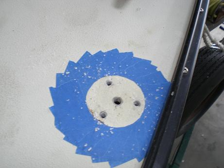 drilled out holes