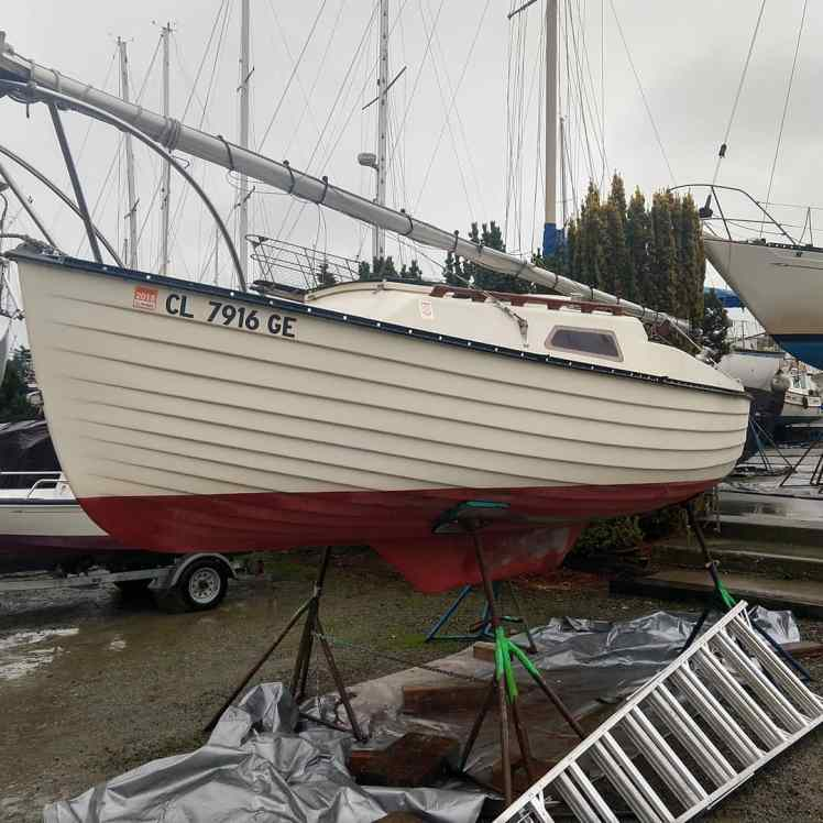 Centerboard serviced – M17 #375 – SWEET PEA
